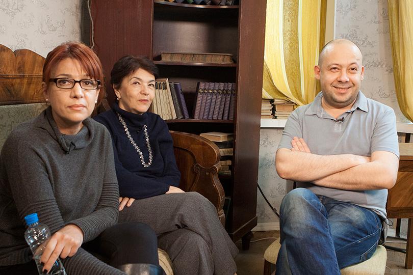 Алексей Герман-мл. с семьей Довлатова