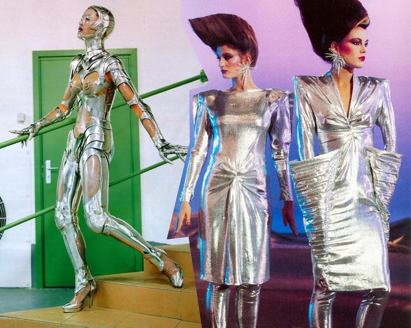 Дизайн Thierry Mugler вобъективе Хельмута Ньютона (Vogue, 1995г.). Тьерри Мюглер, 1979г.
