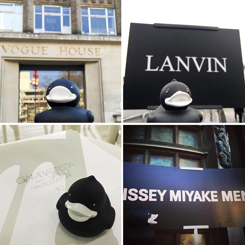 Instagram недели: Модная уточка Pierre Le Duck (@Pierreleduck). Пьер в Vogue House в Лондоне; Пьер на показе Lanvin; Пьер на показе Giambattista Valli Haute Couture; Пьер на показе Issey Miyake Men