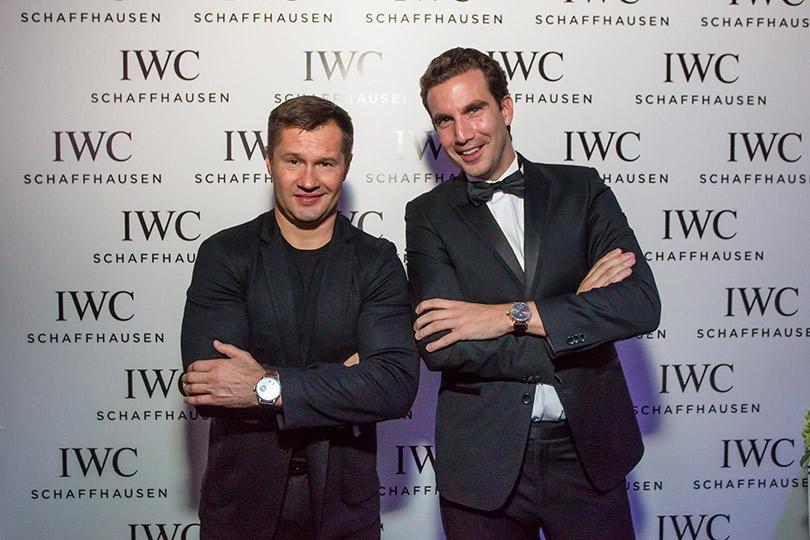 Презентация новой женской коллекции часов IWC Schaffhausen DaVinci врамках Mercedes-Benz Fashion Week Russia. Алексей Немов и Томас Перини