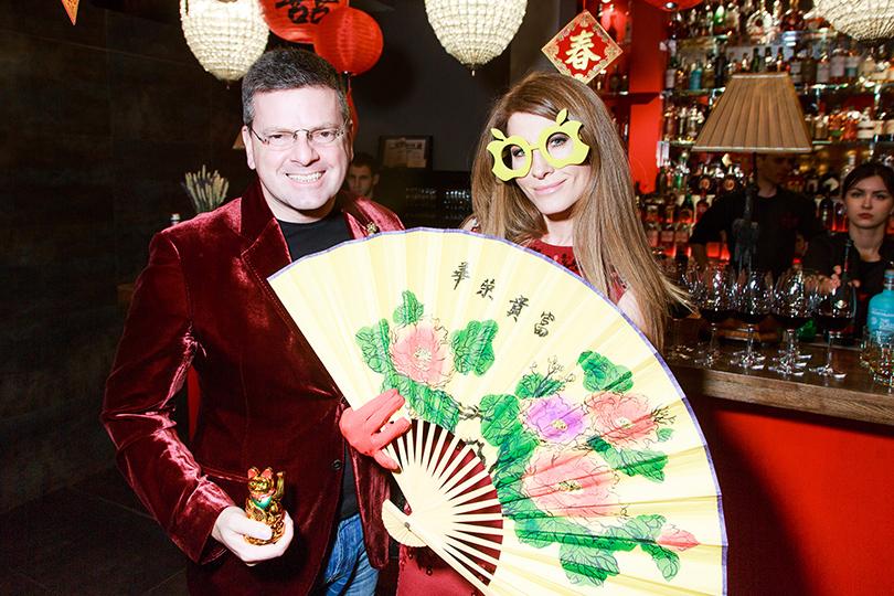 Открытие «Китайской грамоты» в Барвихе. Константин Андрикопулос с женой