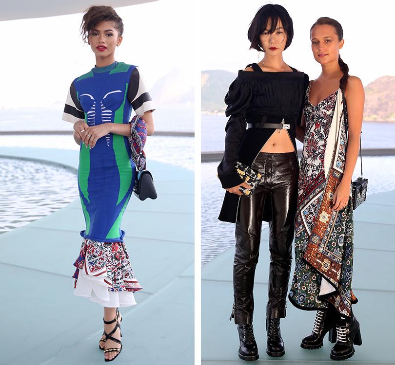 Style Notes: показ круизной коллекции Louis Vuitton в Рио. Зейдана. Пэ Ду-На и Алисия Викандер