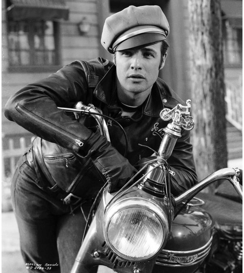 Men in Style: модная легенда Марлон Брандо. В роли «плохого парня» Джонни Стаблера («Дикарь», 1953год)