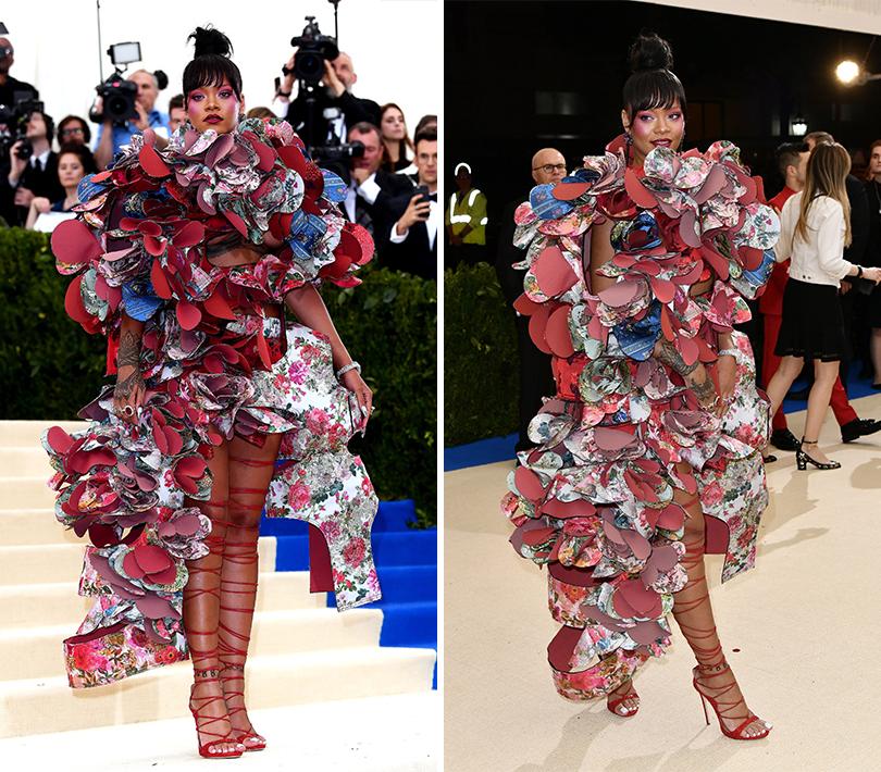 Торжественный бал Института костюма Met Gala 2017: Рианна вComme des Garçons иукрашениях Chopard