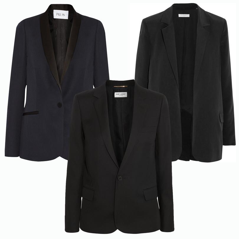 Trend Alert: модный минимализм. Новый подход к созданию базового гардероба. Приталенный жакет Pallas, классический блейзер Saint Laurent, прямой жакет Equipment