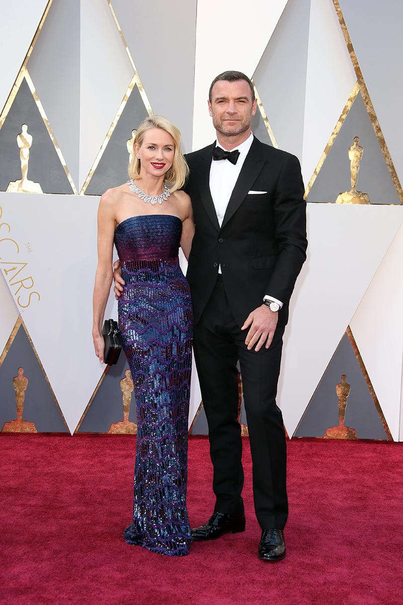 Звездные пары на церемонии вручения кинонаград «Оскар-2016»: Наоми Уоттс и Лив Шрайбер
