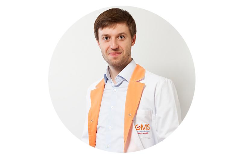 Врач клиники GMS, кандидат медицинских наук, гастроэнтеролог игепатолог Сергей Вялов