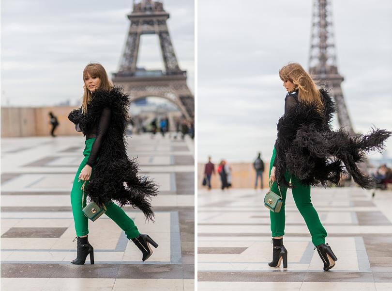 Street Style: уличная мода на Неделе Haute Couture в Париже. Кристина Базан