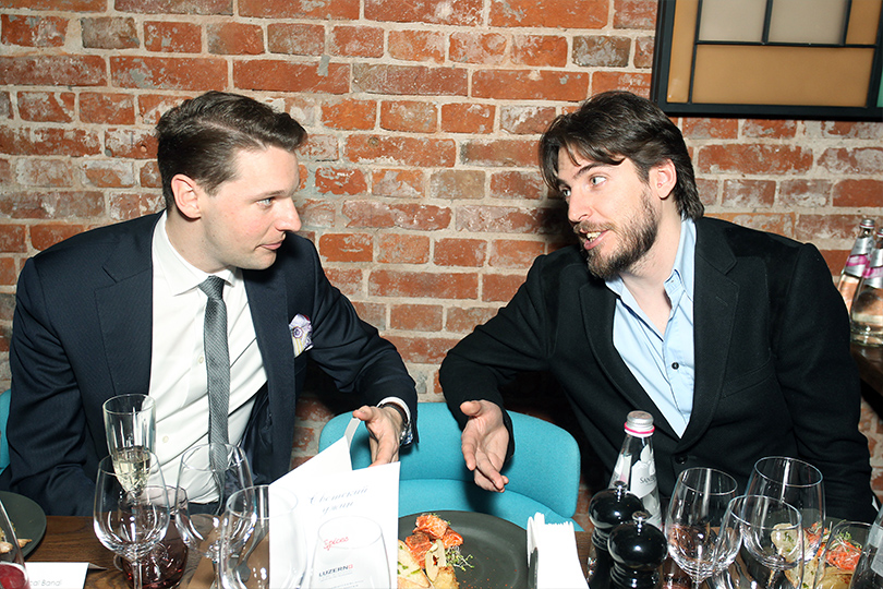 Posta-Magazine собрал поклонников Швейцарии вмосковском ресторане Spices. Паскаль Банди (Hotel Schweizerhof) и Ян Кооманс (Posta-Magazine)