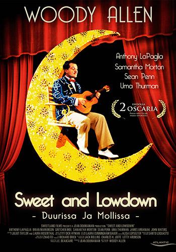 «Сладкий и гадкий» (Sweet and Lowdown), 1999 Режиссер — Вуди Аллен. В ролях: Шон Пенн, Саманта Мортон, Ума Турман. Саундтрек — Джанго Рейнхардт и прочий весь этот джаз