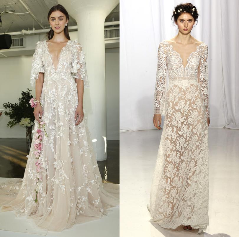 Wedding & More: 6 актуальных трендов с Недели свадебной моды в Нью-Йорке. Платья Reem Acra, Monique Lhuillier