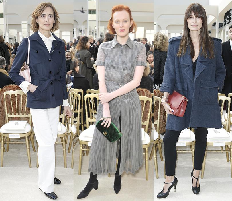 Звездные гости Недели моды в Париже, 2016: Инес де ла Фрессанж, модель Карен Элсон, Каролин де Мегрэ