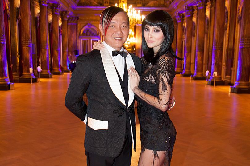 Гала-ужин Yanina Couture в Париже. Стивен и Дебора Ханг