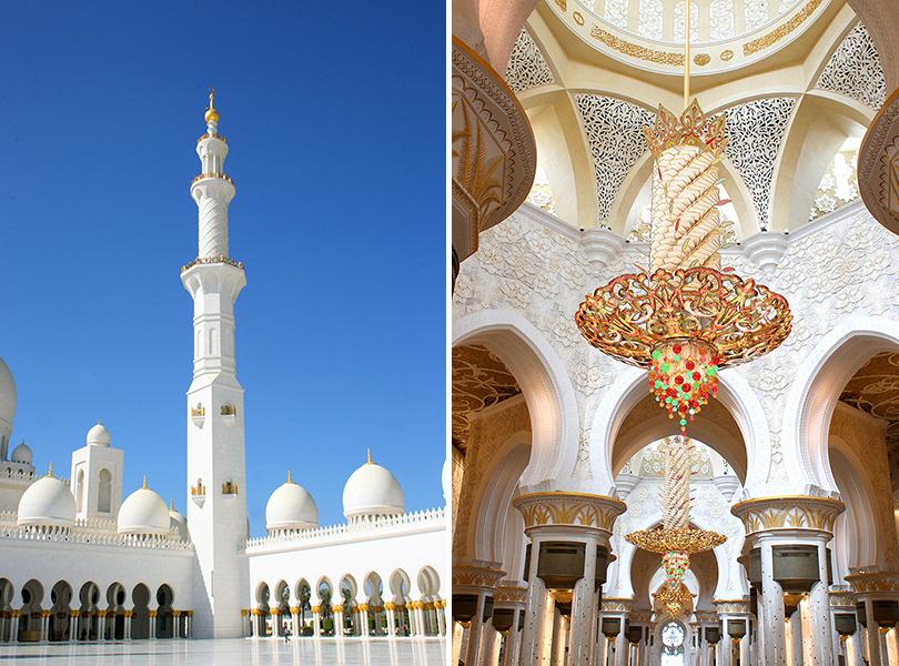 Идея на каникулы: 10 причин поехать в Абу-Даби весной.  Мечеть шейха Зайда