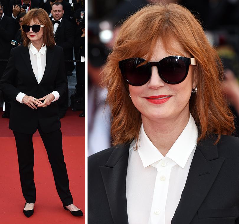 Cannes 2016: самые яркие звездные образы на церемонии открытия кинофестиваля. Сьюзан Сарандон вSaint Laurent