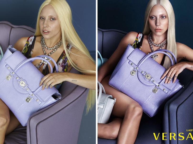 Леди Гага иБейонсе— доипосле «Фотошопа»