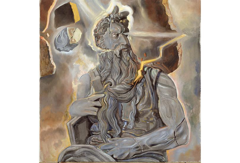 Сальвадор Дали. Без названия. Помотивам скульптуры «Моисей» снадгробия папы Юлия IIработы Микеланджело.1982