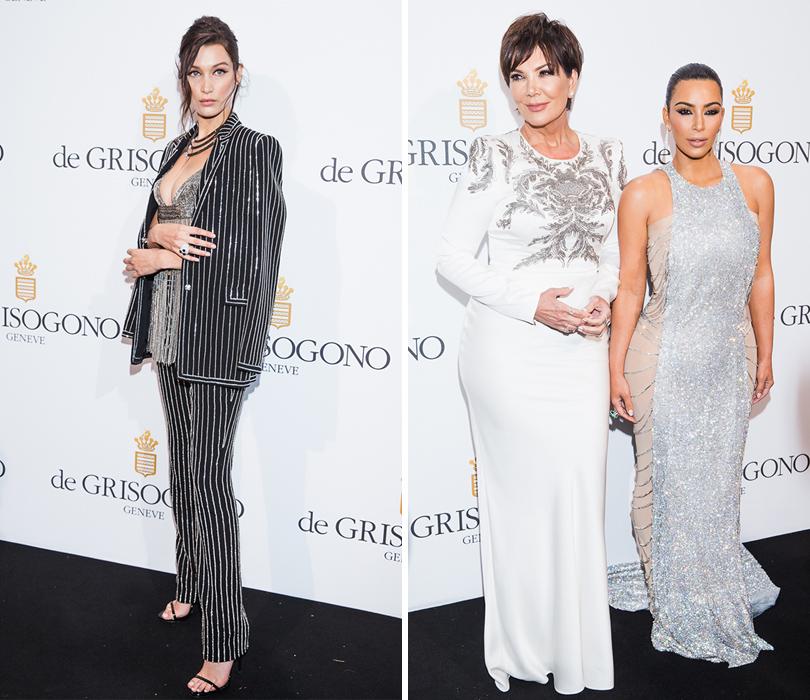 Вечеринка de Grisogono в Каннах. Белла Хадид (в Givenchy). Крис Дженнер и Ким Кардашян