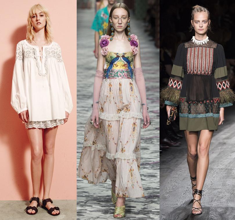 See by Chloé (весна-лето 2016), Gucci (весна-лето 2016), Valentino (весна-лето 2016)