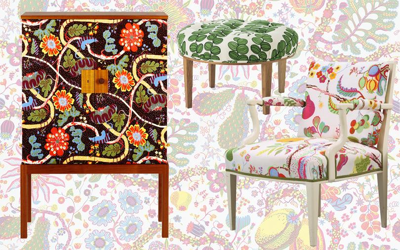 Шведский модернизм Йозефа Франка. Ткани с невероятными орнаментами и фантазиями на тему флоры и фауны