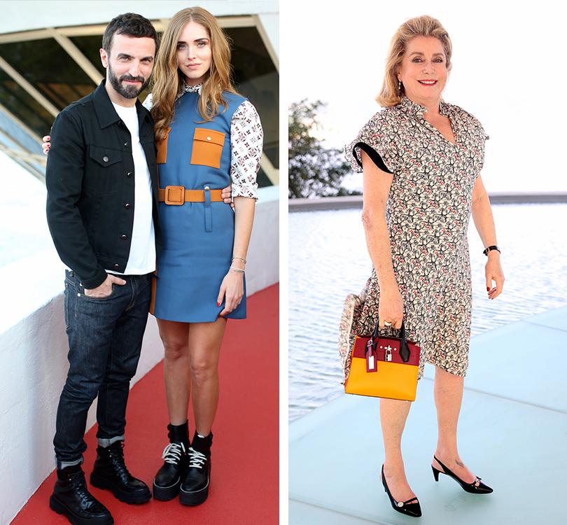 Style Notes: показ круизной коллекции Louis Vuitton в Рио. Николя Гескьер и Кьяра Ферраньи. Катрин Денев