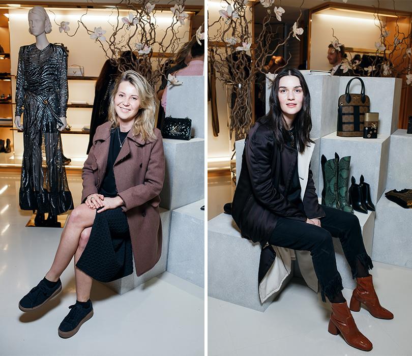Коктейль Louis Vuitton послучаю запуска коллекции весна-лето 2017. Катя Комолова. Мари Коберидзе