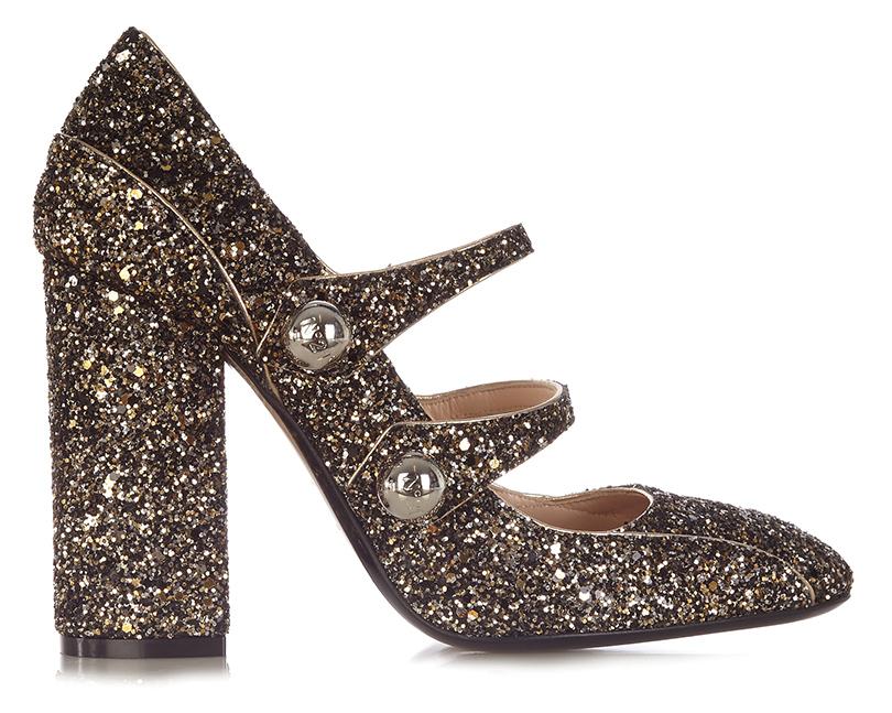 Новый год. Дресс-код: 28лучших пар обуви для новогодней вечеринки. Туфли наустойчивом каблуке встиле «Мэри-Джейн» No.2