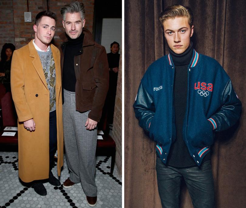 Men inStyle: уличный стиль наНеделе мужской моды вНью-Йорке. Колтон Хейнс (слева) напоказе Billy Reid. Модель Лаки Блу Смит