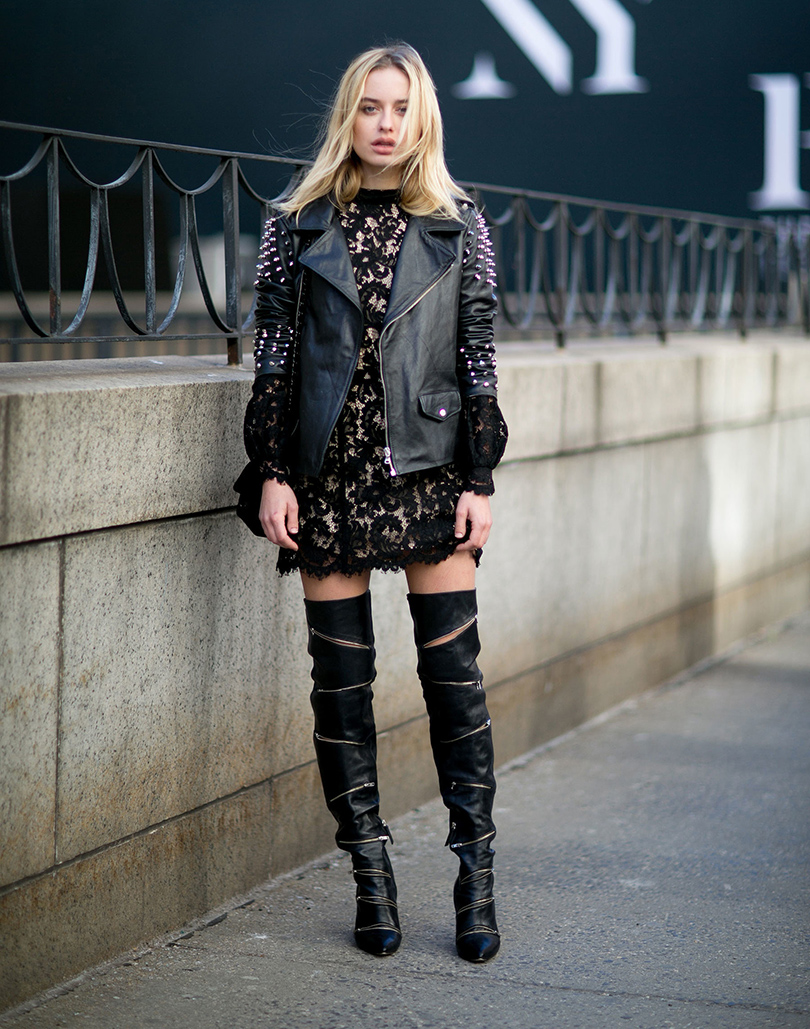 Лучшие образы на Неделе моды в Нью-Йорке: блогер Соня Есьман