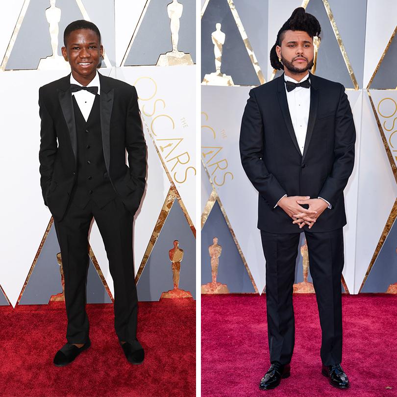 Мужские образы на церемонии награждения победителей «Оскар-2016»: Абрахам Атта и The Weeknd (Абель Макконен Тесфайе)