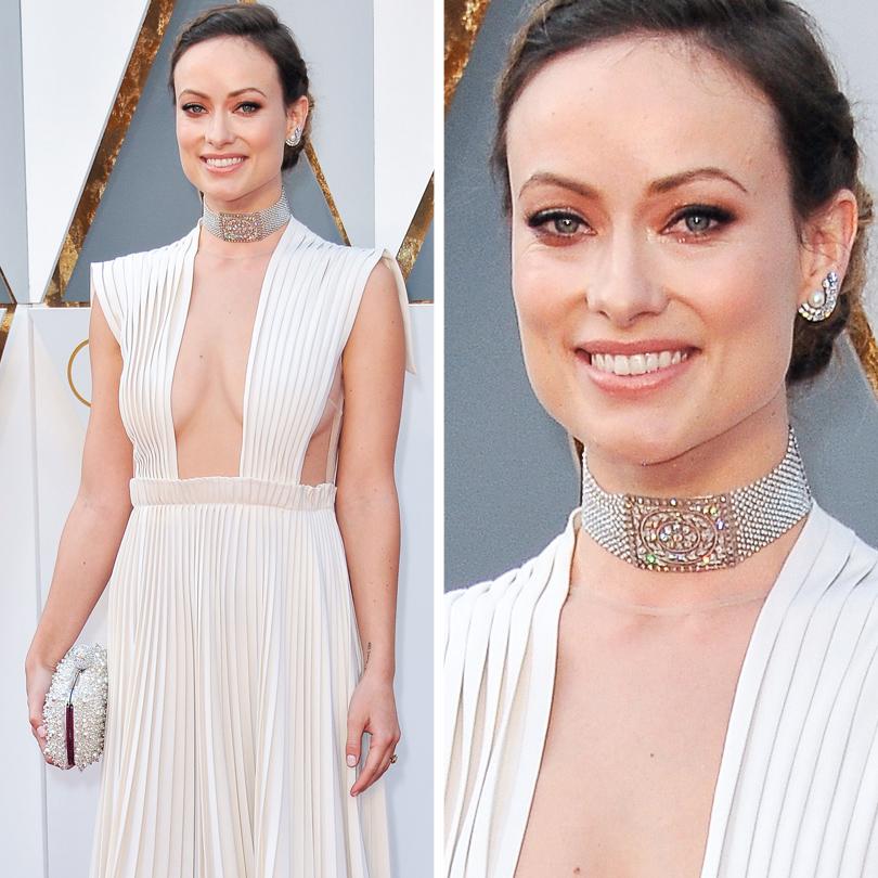 Ювелирные украшения звезд на церемонии «Оскар-2016»: Оливия Уайд в ожерелье Neil Lane