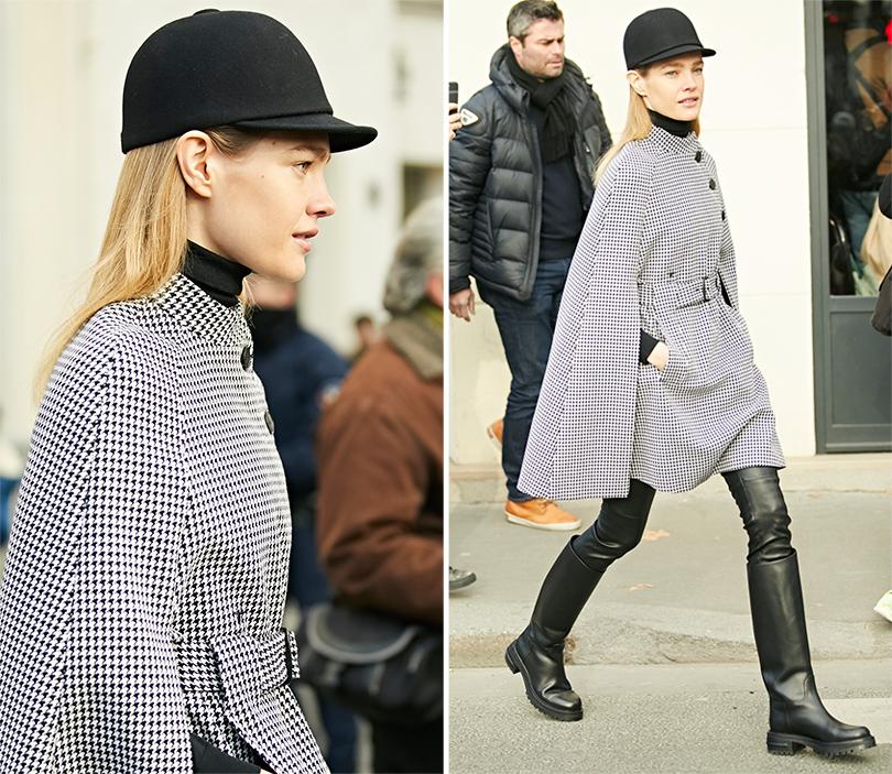 Street-Style: эксклюзивные фотографии с первого дня Недели кутюра в Париже в объективе Ино Ко. Наталья Водянова