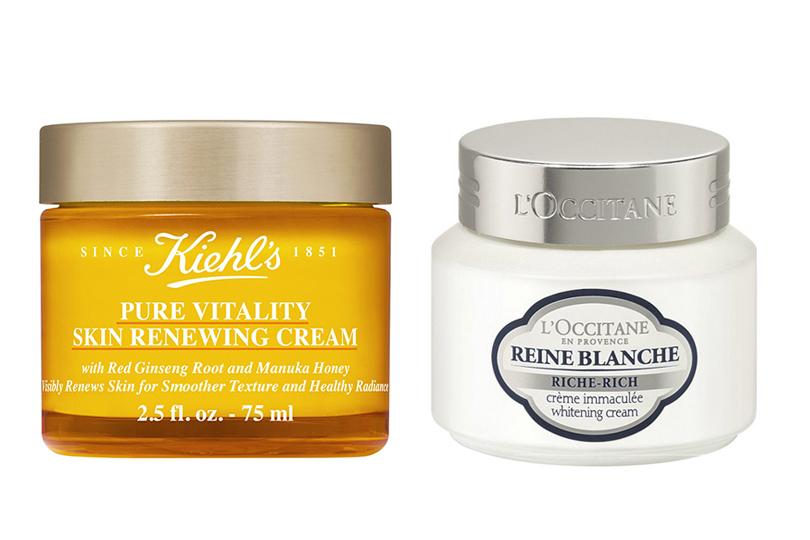Крема Pure Vitality Skin Renewing Cream марки Kiehl's иL'Occitane «Белая королева» наоснове экстракта таволги