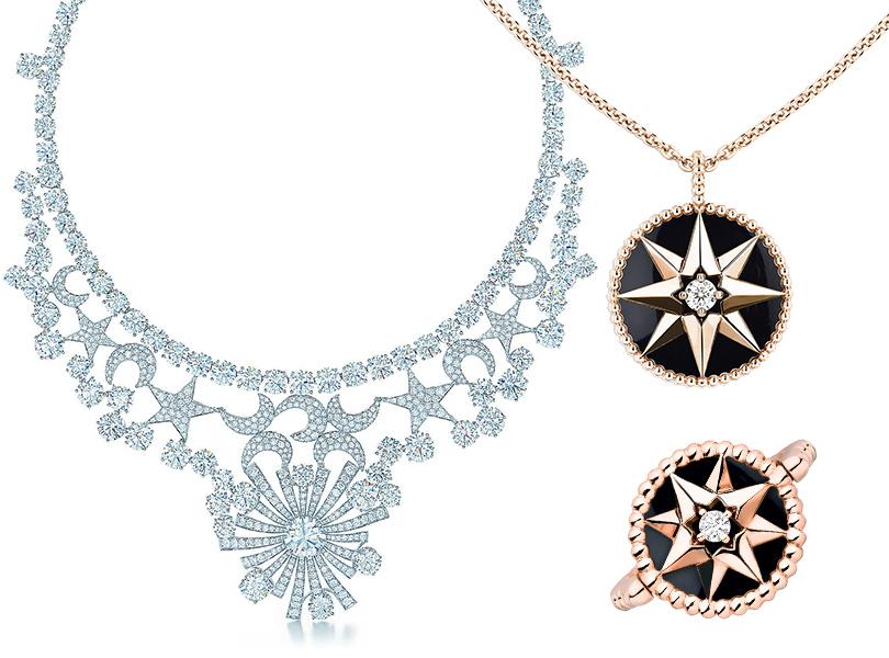 Колье «Звезды иЛуна» для Tiffany andCo., колье икольцо Dior Rose des Vents