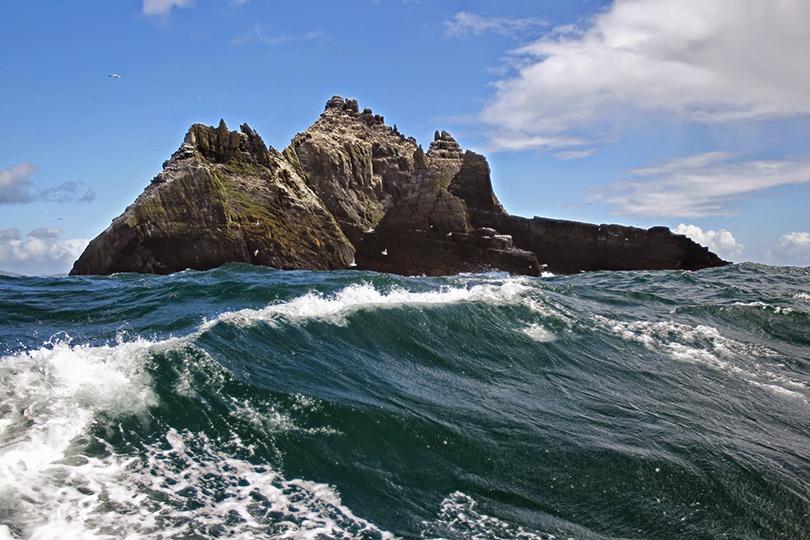 Остров-утес Скеллиг-Майкл, Ирландия