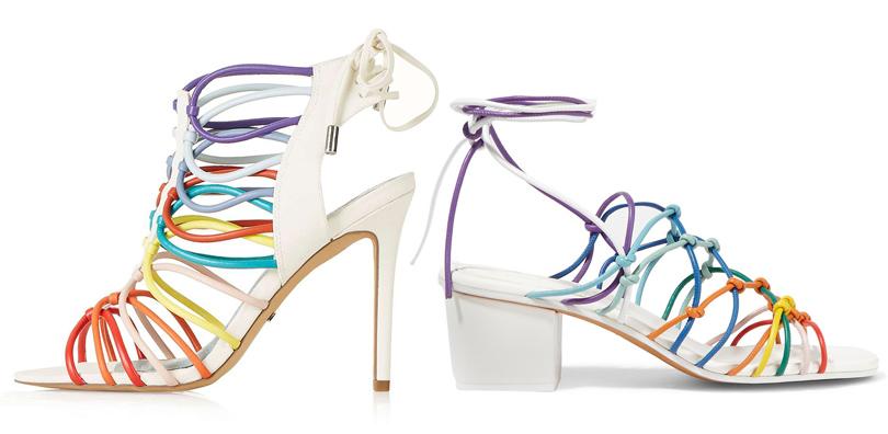 Мода и бизнес: найти десять отличий. Как масс-маркет «вдохновляется» люксовым сегментом. Cандалии cразноцветными ремешками Chloé VSсандалии сразноцветными ремешками Topshop