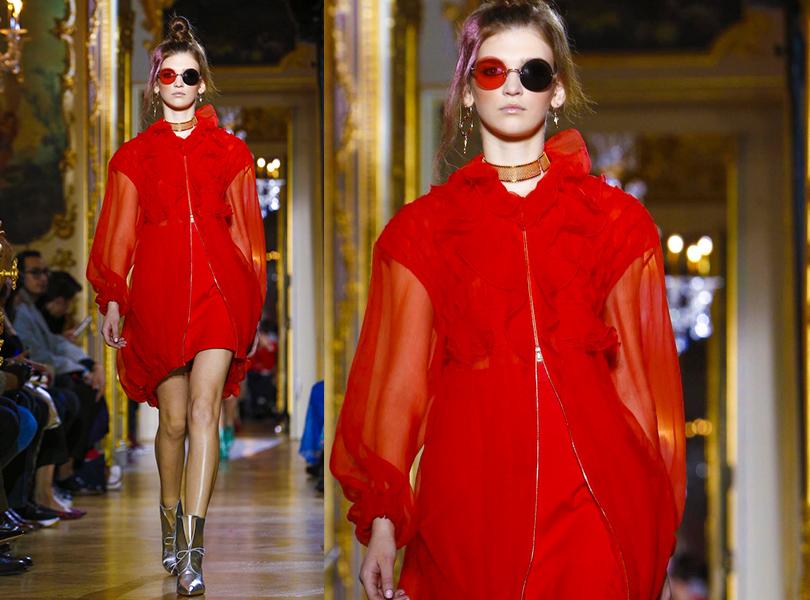 Показ Ulyana Sergeenko на Неделе высокой моды в Париже