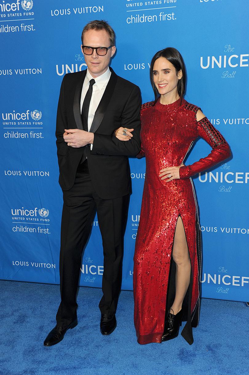 Ежегодный благотворительный бал UNICEF. Пол Беттани и Дженнифер Коннелли