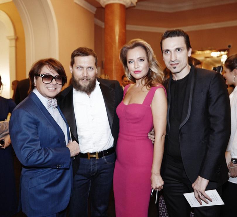 Валентин Юдашкин, Петр Аксенов, Виктория Шелягова и Илья Давыдов