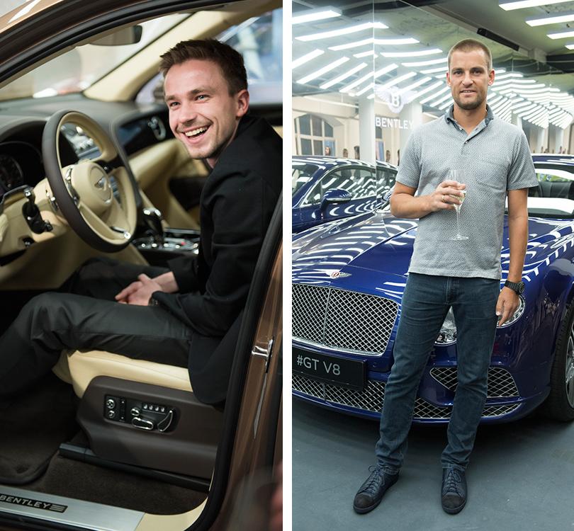 Светская хроника: премьера новых моделей Bentley на выставке Bentley. Be Extraordinary. Александр Петров. Михаил Южный