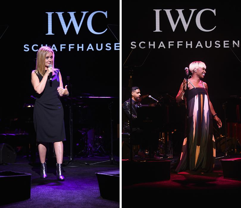 Гала-вечер IWC Schaffhausen врамках кинофестиваля «Трайбека»: Ведущая вечера Саманта Би. Синтия Эриво