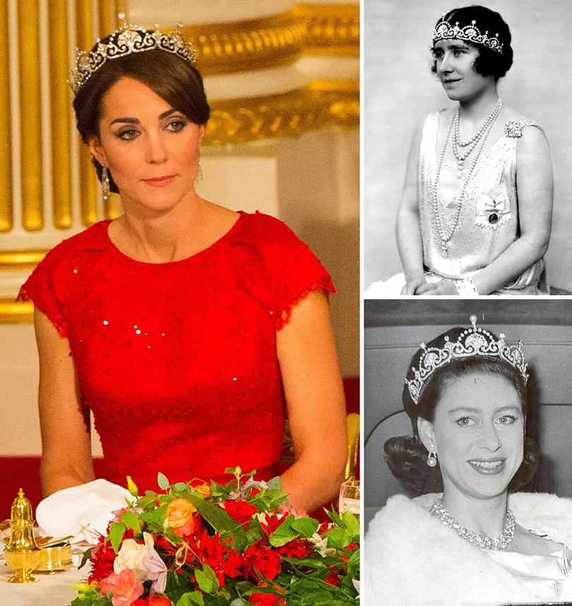 Часы &Караты: герцогиня Кембриджская примерила любимую тиару принцессы Дианы