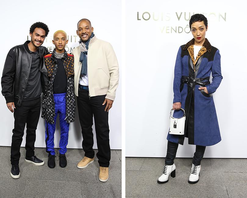 Открытие бутика Louis Vuitton наВандомской площади. Джейден и Уилл Смиты. Рут Негга
