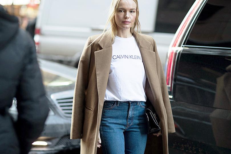 Street Style: уличный стиль наНеделе моды вНью-Йорке. Кейт Босуорт