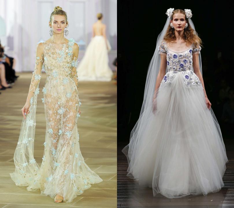 Wedding & More: 6 актуальных трендов с Недели свадебной моды в Нью-Йорке. Платья Ines diSanto, Naeem Khan