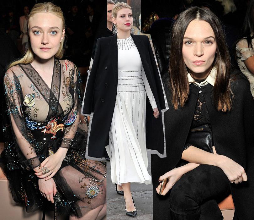Звездные гости Недели моды в Париже, 2016: Дакота Фаннинг, Барбара Берлускони, актриса Анна Брюстер