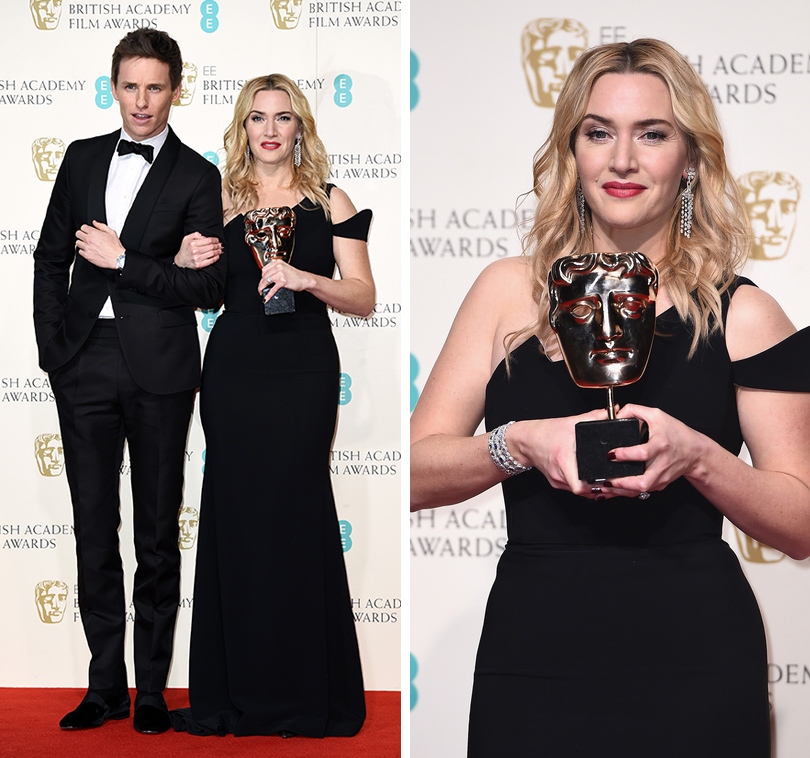 Церемония вручения премий BAFTA 2016 в Лондоне: Эдди Редмэйн и Кейт Уинслет