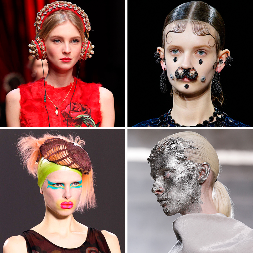 Ювелирные усы, золотые маски идругие странные аксессуары