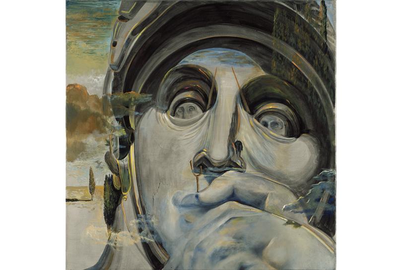 Сальвадор Дали. Воин, или «Los Embozados. Помотивам скульптуры «Лоренцо Медичи» снадгробия Лоренцо Медичи работы Микеланджело.1982