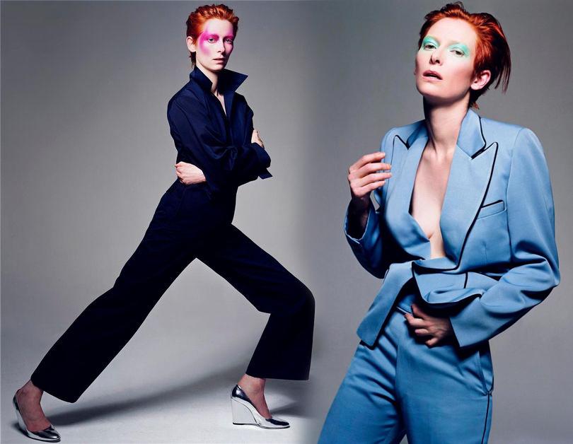 Тильда Суинтон в съемке итальянского Vogue, 2003 год